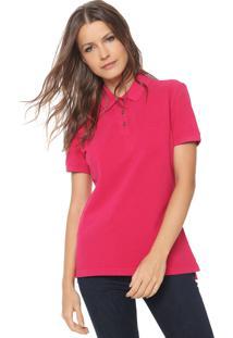 Camisa Polo Carmim Lisa Rosa