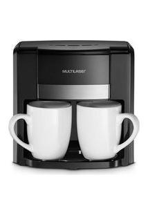 Cafeteira Elétrica Multilaser 127V 500W 2 Xícaras + Colher Dosadora + Filtro Permanente Preta - Be009 Be009