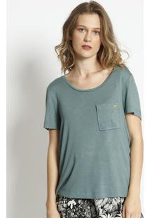 Blusa Texturizada Com Bolso- Verde- Vide Bulavide Bula
