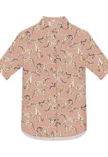 Camisa Estampada Saída De Praia Cheetah - Lez A Lez