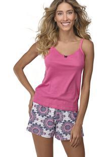 Pijama Curto Shortdoll Minueto Demillus 20101 Magenta - Tricae