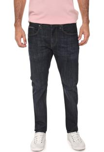 Calça Jeans Tommy Hilfiger Reta Pespontos Azul