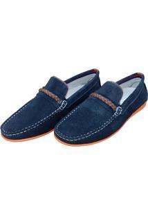 Mocassim Navit Shoes Driver Marinho