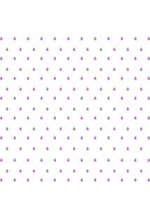 Adesivo De Parede Gotinhas Lilã¡S Para Quarto 151Un Cobre 3M2 - Lilã¡S - Dafiti