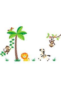 Adesivo De Parede Balihai Stickers 160X123 Selva Multicolorido