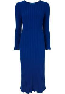 Simon Miller Vestido De Tricô Canelado - Azul