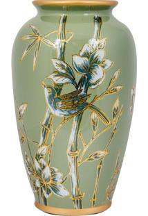 Vaso Decorativo De Porcelana Sagano - Linha Nature