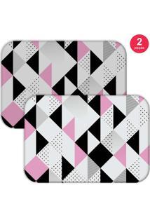 Jogo Americano Love Decor Triângulos Preto/Branco