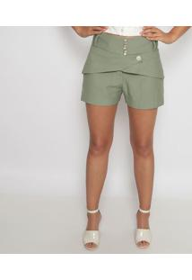 Short Com Recortes - Verde - Aboutabout