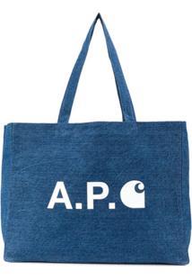 A.P.C. Bolsa Tote X Carhartt-Wip - Azul