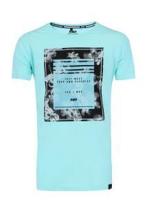 Camiseta Hd Retrô Hibiscus - Masculina - Verde Claro