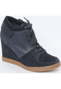 Sneaker Em Couro Com Ortholite® - Azul Marinho - Sallacoste