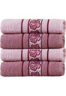 Kit Toalha De Banho 4 Peã§As Beauty - Appel - Rosa MãStico/Rosa - Rosa - Dafiti