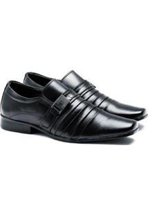 Sapato Social Versales 70019 Masculino - Masculino-Preto