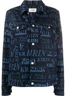 Kirin Jaqueta Jeans Com Estampa - Azul