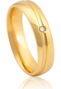 Aliança De Casamento Em Ouro 18K 4,5Mm Anatômica