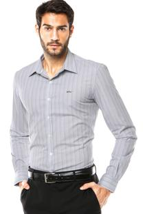 Camisa Ellus Bordado Cinza