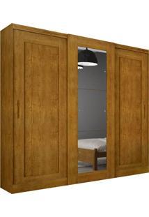 Guarda-Roupa Casal Com Espelho Coronata Imbuia 3 Pt 6 Gv