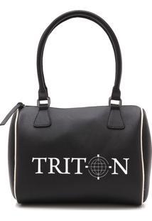 Bolsa Baú Triton Logo Preta