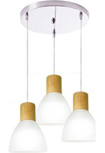 Pendente Anello Wood 120W - Startec - Branco