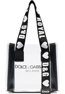 Dolce & Gabbana Bolsa Tote Transparente Com Logo - Neutro