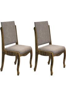 Kit 2 Cadeiras Para Sala De Jantar Ônix Amadeirado/Pena Caramelo - Rv