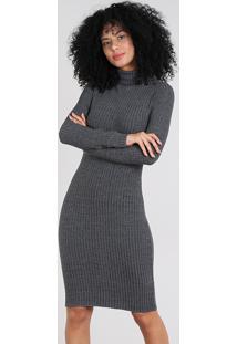 6eab4b7fd9 Vestido Cinza Curto feminino