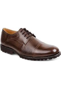Sapato Social Masculino Derby Sandro & Co Cedar - Masculino-Marrom Escuro