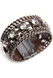 Bracelete Pravage Tpu Onix Com Pedras