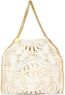 Stella Mccartney Falabella Crochet Tote Bag - Neutro