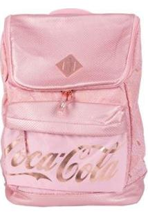 Bolsa Coca-Cola De Costas Blush Feminina - Feminino-Rosa