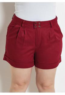 Short Bordô Plus Size