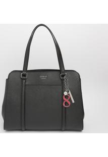 Bolsa Com Bolso & Bag Charm- Preta- 26X35X13Cm- Guess