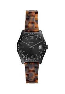 Relógio Fossil Feminino Scarlette Preto Es4638/1Pn Es4638/1Pn