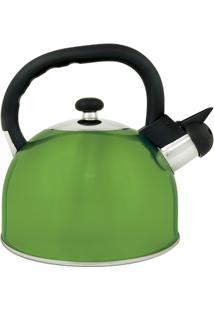 Chaleira Aço Inox 2,5 Litros Mattina - Unissex-Verde