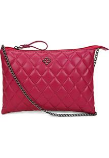 Bolsa Transversal Capodarte Soft Com Matelassê Feminina - Feminino-Pink
