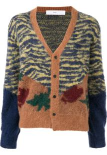 Toga Pulla Cardigan Animal Print - Marrom