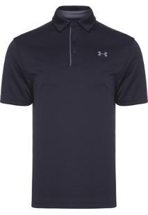 Camiseta Masculina Ua Tech Polo - Preto