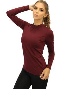 Camiseta Térmica Question Sport Gola Redonda Com Fleece Interno Bordo