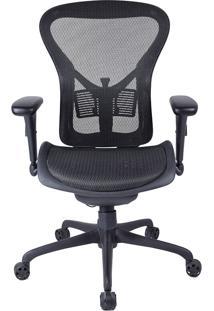 Cadeira Presidente Mko-025-Marka Móveis - Preto