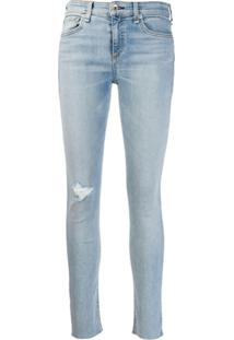 Rag & Bone Calça Jeans Skinny Rasgada - Azul