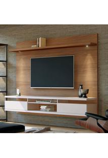 Painel Para Tv Até 55 Polegadas Verona Noce E Off White 220 Cm
