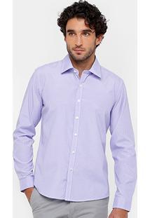 Camisa Blue Bay Regular Fit Listrada Masculina - Masculino