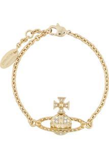 Vivienne Westwood Pulseira Mayfair Bas Relief De Corrente - Dourado