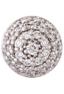 Alinka Brinco Único De Ouro Branco 18K Com Diamantes - Metálico