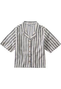 Camisa Listrada Em Linho Malwee