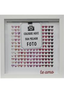 "Painel Fotográfico ""Te Amo""- Branco & Pink- 22X22X2Ckapos"