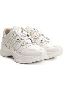 Tênis Couro Jorge Bischoff Glam Chunky Sneaker Feminino - Feminino-Branco