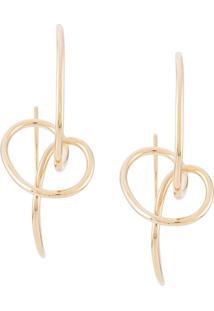 Bar Jewellery Par De Brincos Sfera - Dourado
