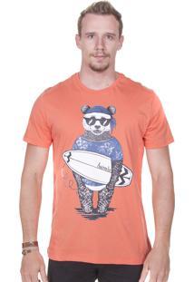 Camiseta Animalia Panda Laranja
